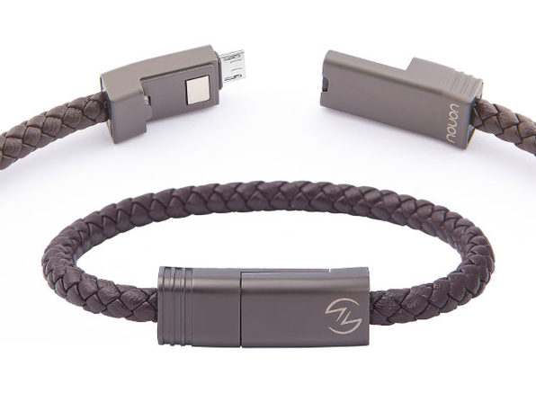 NILS 2.0 Solo: Fast Wearable Micro-USB Charging Cable (Chocolate)