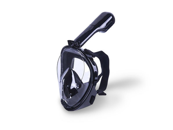 Full Face Snorkel and Diving Mask (Black - L/XL)