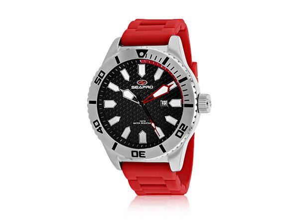 Seapro Men's Brigade Watch Black/Red - Product Image