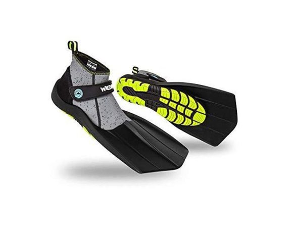 WildHorn Outfitters Topside Fins Compact Snorkeling Flippers - Youth 7/Women's 8