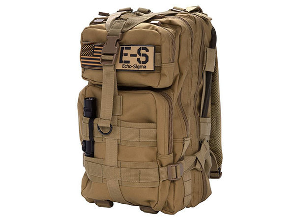 Get Home Bag: 72-Hr Emergency Gear with KN95 Mask (Coyote Brown)