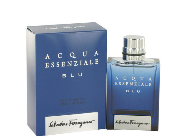 3 Pack Acqua Essenziale Blu by Salvatore Ferragamo Eau De Toilette Spray 1.7 oz for Men - Product Image