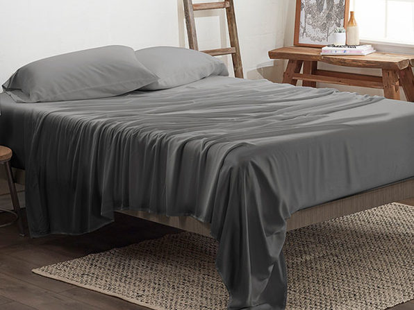 4-Piece Luxury 100% Rayon Bamboo Sheet Set // Gray