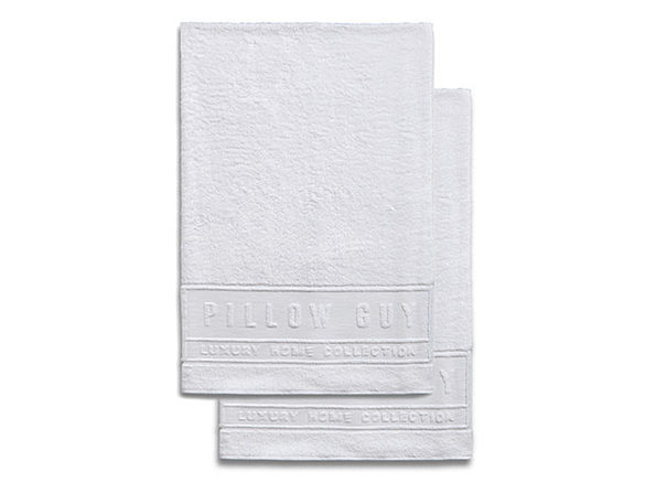 Luxe Pillow Guy Oversized Bath Towel (set of 2) - White - Product Image