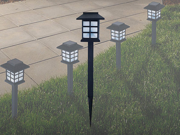Pure Garden Outdoor Lantern Solar Landscaping Lights: Set of 6