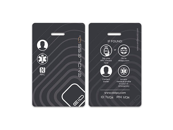 EndlessID® Smart Luggage & Backpack Tags: 6-Pack