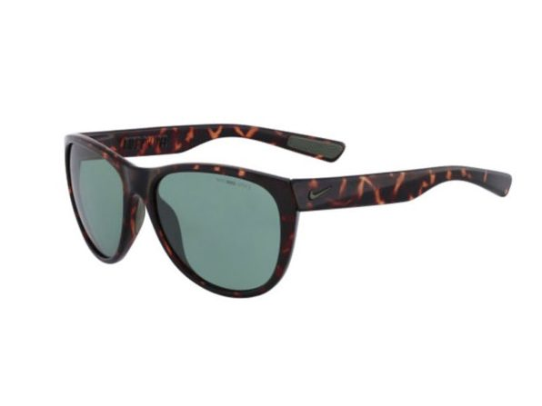 Nike Compel EV0883 Men's Sunglasses with Tortoise Frames and Green Lens - Product Image
