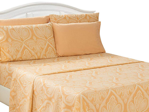 Paisley Sheet 6 Pcs Taupe - Twin - Product Image