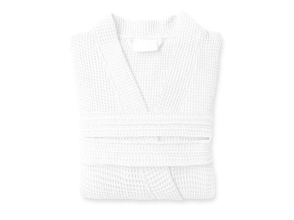 Rebecca Women's Kimono Waffle Robe (White)