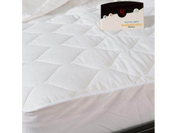 Biddeford Quilted Electric Heated Mattress Pad Twin Full Queen King Cal King - White
