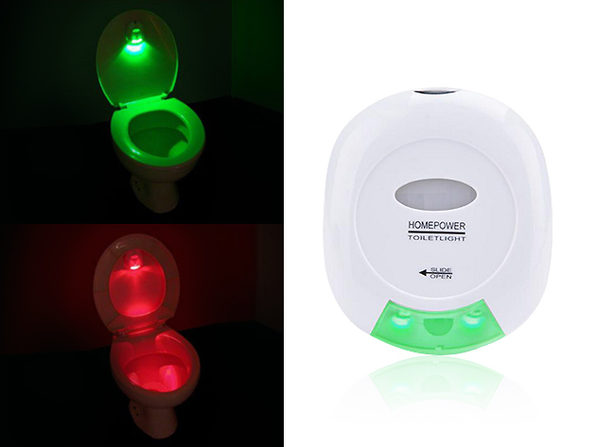 Motion Activated LED Toilet Light - Product Image