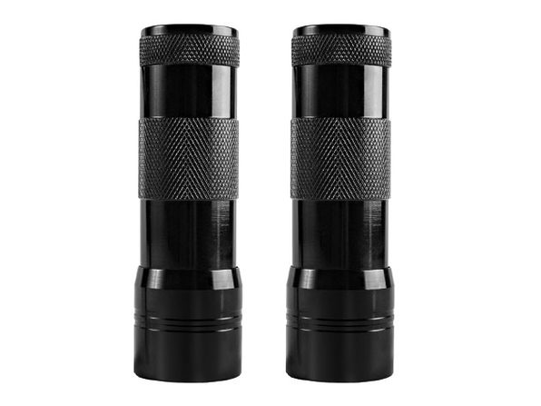 UV Handheld 12 LED Black Light Flashlight: 2-Pack