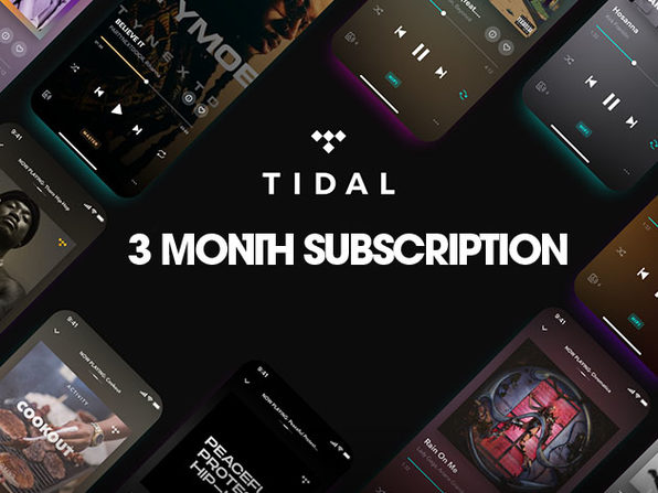 TIDAL - $3 for 3 Month Subscription - Product Image