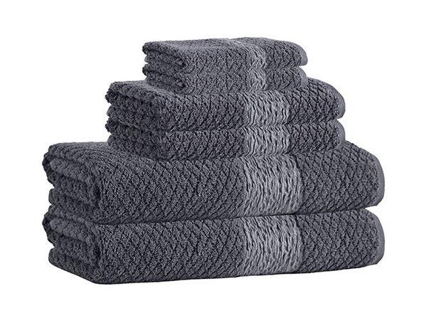 Anton Turkish Towels 6-Piece Set (Anthracite)