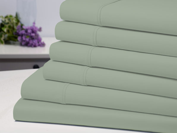 Bamboo Comfort 6 Piece Luxury Sheet Set - Sage (Queen) - Product Image