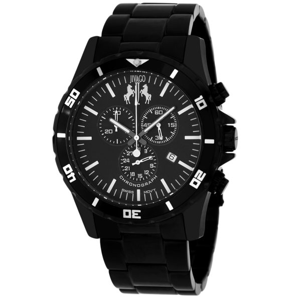 Jivago Men's Ultimate Black Dial Watch - JV6120 - Product Image