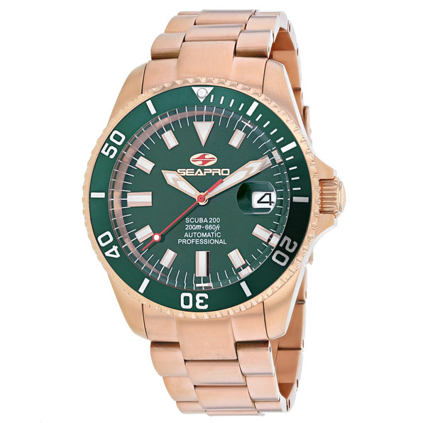 Seapro Men's Scuba 200 Green Dial Watch - SP4323