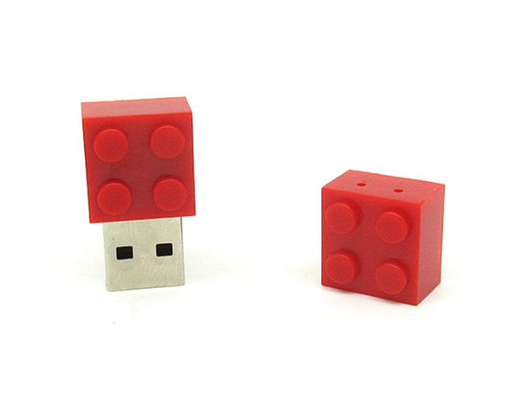 Toy Block USB Drive (Red)
