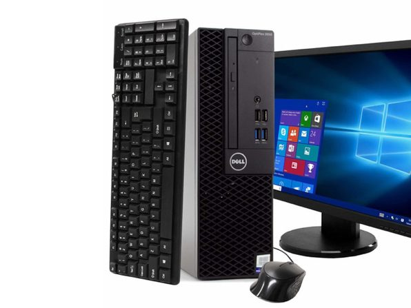 "Dell Optiplex 3050 Desktop PC, 3.2GHz Intel i5 Quad Core Gen 7, 16GB RAM, 1TB SATA HD, Windows 10 Professional 64 bit, 24"" Widescreen Screen (Renewed)"