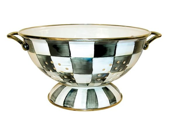 MacKenzie-Childs Courtly Check Enamel Colander - Large - Product Image