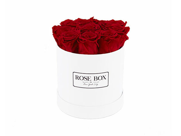 Small White Boxes with Roses