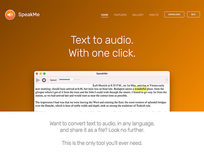 SpeakMe: Text to Audio Converter - Product Image