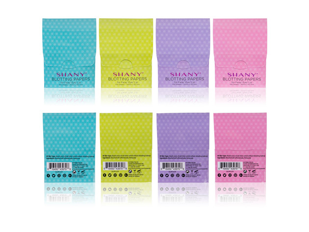 SHANY Makeup Blotting Papers: 4 Packs of 100 Oil Absorbing Paper Sheets for Face - 400 Sheets for $9 4