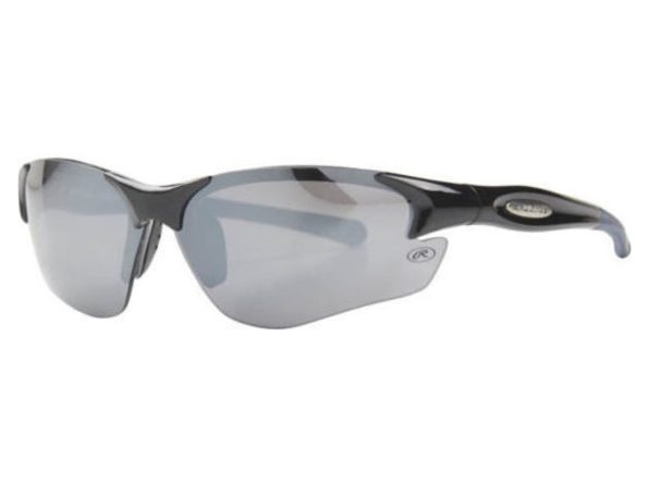 Rawlings 10211095.SPT Mens Sport Wrap Sunglasses Black/Smoke - Black