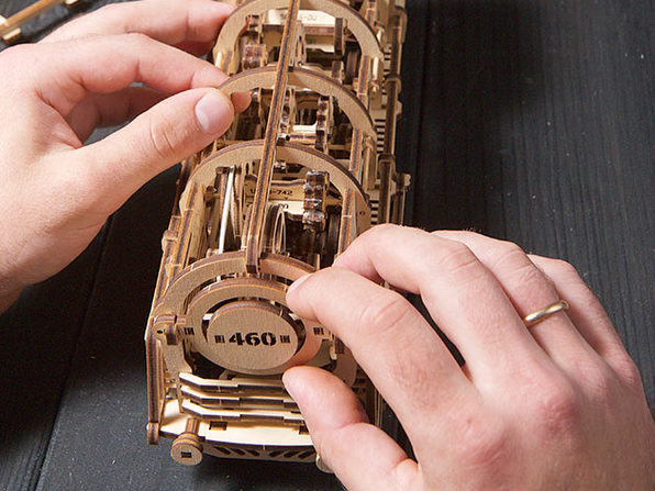3D Wooden Mechanical Model Kit (460 Locomotive)