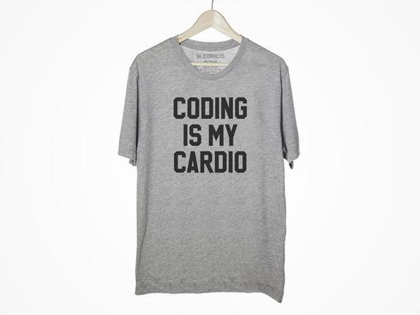 Coding Is My Cardio Shirt (Large) - Product Image