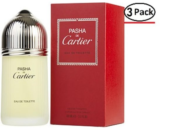 Pasha De Cartier By Cartier Edt Spray 3.3 Oz For Men (Package Of 3)