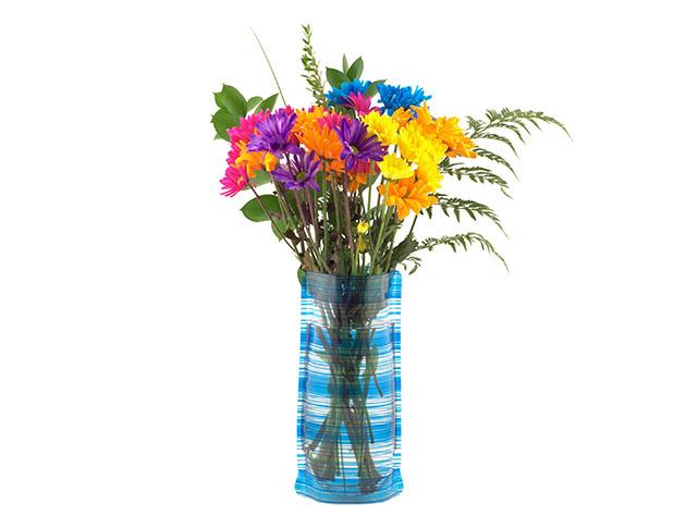 6 Pack: Bloomers Plastic Foldable Reusable Vase, on sale for $17.99 (reg. $29)
