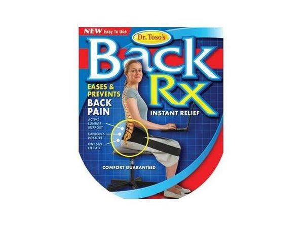 Nada Chair Dr. Toso's BackRX Portable Back Support Belt for Posture Improvement- (Used, Open Retail Box) - Product Image