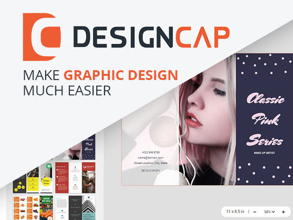 DesignCap Graphics Website: 1-Yr Subcsription