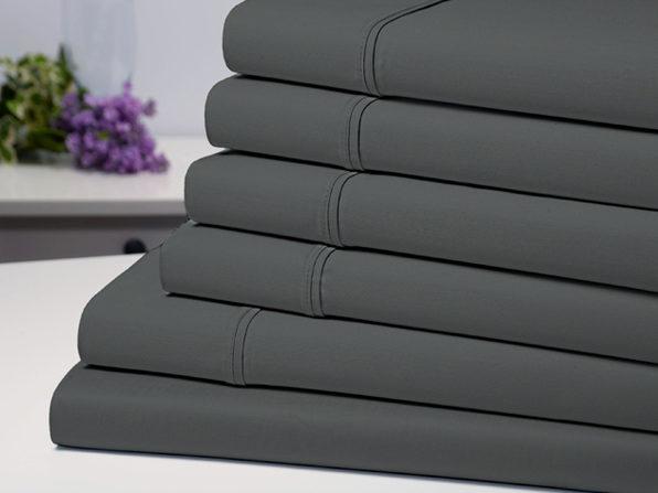 Bamboo Comfort 6-Piece Luxury Sheet Set (Grey/Full)