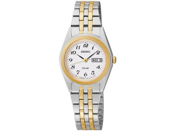 Seiko SUT116 Womens Silver & Gold Core Solar Watch - Product Image