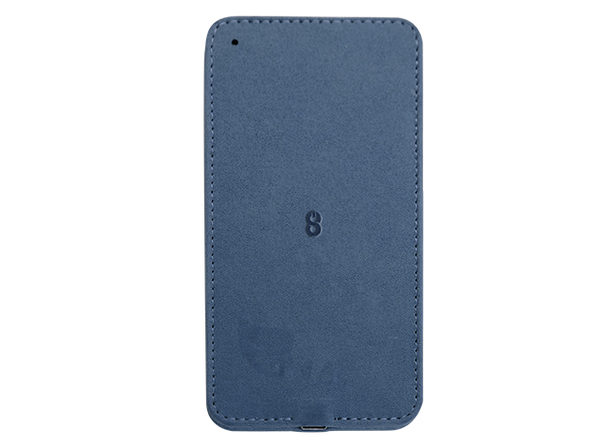 Vegan Leather 10W Wireless Fast Charger (Blue)