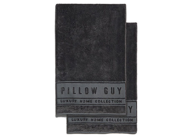 Luxe Pillow Guy Oversized Bath Towels: 2-Pack (Charcoal)