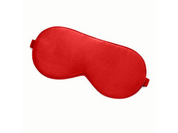 Natural Silk Sleep Mask Blackout Eye Mask Soft Night Blindfold Cover (Red) - Product Image