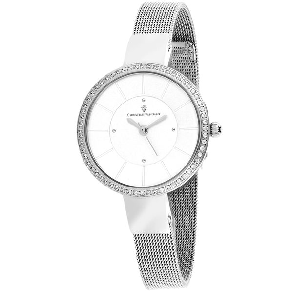 Christian Van Sant Women's Reign Silver Dial Watch - CV0220