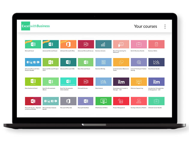 Stack Social Deal for Excel with Business: Lifetime All-Course Access