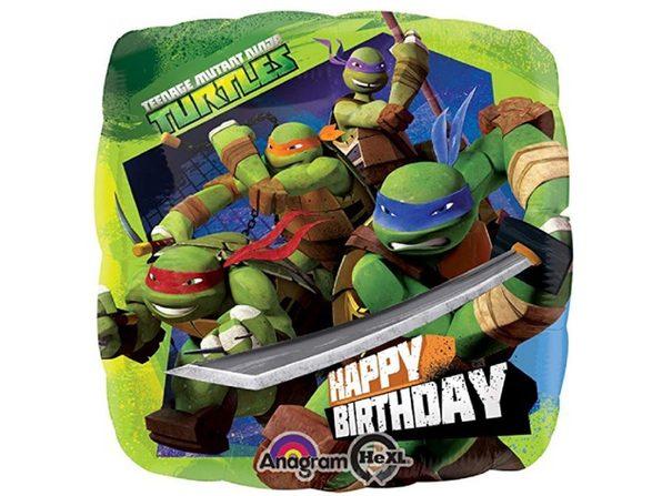"Anagram Ninja Turtles 18"" Foil Birthday Balloon"
