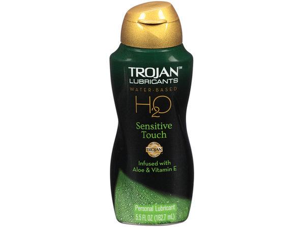Trojan Lubricants H2O Sensitive  5.5oz. ---(Package Of 4)
