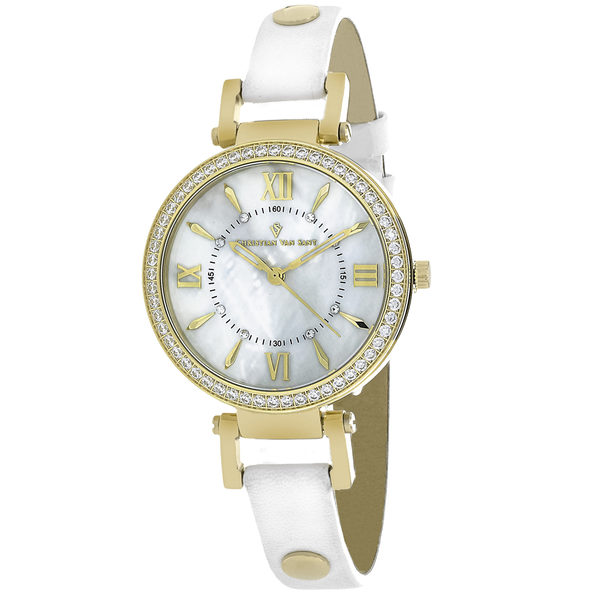 Christian Van Sant Women's Petite White MOP Dial Watch - CV8132