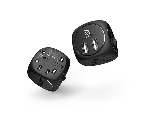 OMNIA TA502 Travel Adapter (Black/Black)