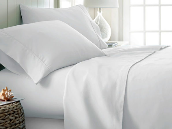 4-Piece Classic Queen Sheet Set (White)