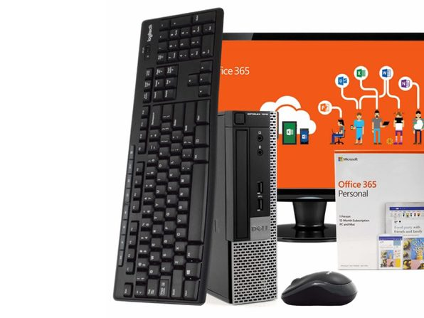 "Dell OptiPlex 7010 Desktop PC, Intel i5, 8GB RAM, 500GB HDD, Windows 10 Pro, Microsoft Office 365 Personal, 24"" LCD Monitor, New 16GB Flash Drive, Wireless Keyboard & Mouse, WiFi (Renewed)"