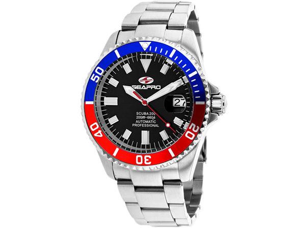 Seapro Men's Scuba 200 Black Dial Watch - SP4319