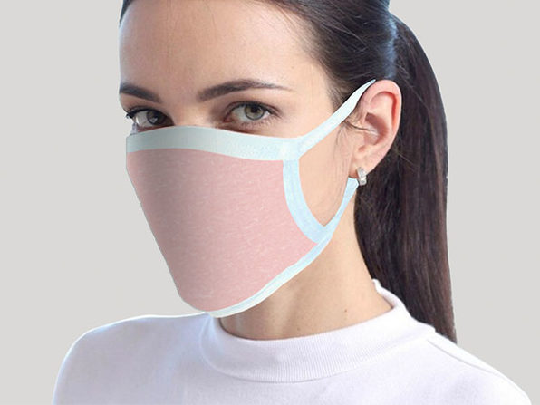 Cotton Face Masks: 4-Pack (Pink)
