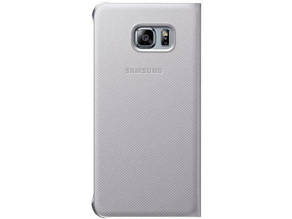 Samsung Galaxy S6 edge+ Wallet Flip Cover Silver
